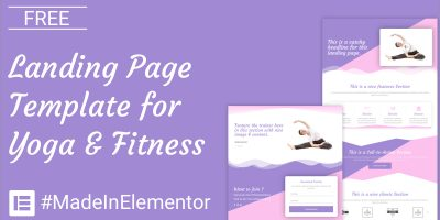 free-elementor-template-for-youga-fitness